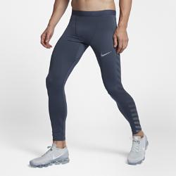 Мужские беговые тайтсы с графикой Nike Tech FlashМужские беговые тайтсы с графикой Nike Tech Flash созданы для максимальных результатов на каждой пробежке. Невероятно эластичная ткань Nike Power обеспечивает поддержку, а светоотражающая графика на штанинах делает тебя заметнее. Пояс без лишних деталей создает ощущение комфорта, даже если поверх тайтсов надеты шорты.<br>