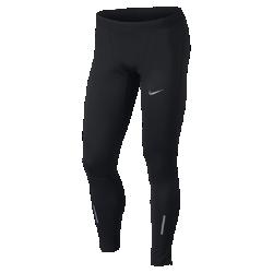 Мужские беговые тайтсы Nike Shield Tech 76,5 смМужские беговые тайтсы Nike Shield Tech 76,5 см обеспечивают комфорт в любую погоду. Вставки из влагонепроницаемого материала сохраняют тепло и позволяют ни на что не отвлекаться во время бега. Минималистичный пояс позволяет надевать поверх тайтсов брюки в перерывах между тренировками.  Защищает от ветра и дождя  Спереди в верхней части расположен слой ткани Nike Shield. Он защищает от ветра и дождя во время бега, позволяя сохранять комфорт и тепло для высоких результатов.  Эластичность и поддержка  В области коленей сзади и в нижней части штанин расположены вставки из ткани Nike Power. Это обеспечивает эластичность и поддержку для свободы движений от старта до финиша.  Надежное хранение важных мелочей  Карман на молнии сзади справа защищает от влаги содержимое — пластиковые карты, ключи или наличные.<br>