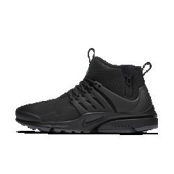 Мужские кроссовки Nike Air Presto Mid UtilityНовый уровень комфорта в холодную погоду: мужские кроссовки Nike Air Presto Mid Utility с эластичным плотно прилегающим верхом, теплым внутренним слоем, водоотталкивающей отделкой и превосходной системой сцепления.  Эластичность и защита от непогоды  Верх, вдохновленный дизайном футболки, выполнен из эластичного текстиля и синтетического пластика для плотной посадки и минималистичного стиля.Прочное водоотталкивающее покрытие DWR защищает от влаги и обеспечивает комфорт в дождливую погоду.  Тепло и плотная посадка  Бортик средней высоты обеспечивает плотную посадку и поддержку, а теплый внутренний слой создает ощущение комфорта в любой ситуации.  Надежное сцепление  Подметка из липкой резины с рельефным рисунком усиливает сцепление на скользких и влажных поверхностях.<br>