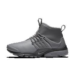Женские кроссовки Nike Air Presto Mid UtilityНовый уровень комфорта в холодную погоду: женские кроссовки Nike Air Presto Mid Utility с эластичным плотно прилегающим верхом, теплым внутренним слоем, водоотталкивающим покрытием и превосходной системой сцепления.  Эластичность и защита от непогоды  Верх, вдохновленный дизайном одежды, выполнен из мягкого эластичного текстиля для плотной посадки и минималистичного стиля. Водоотталкивающее покрытие DWR защищает от влаги и обеспечивает комфорт в дождливую погоду.  Тепло и плотная посадка  Бортик средней высоты обеспечивает плотную посадку и поддержку, а теплый внутренний слой создает ощущение комфорта в любой ситуации.  Надежное сцепление  Подметка из липкой резины с рельефным рисунком усиливает сцепление на скользких и влажных поверхностях.<br>