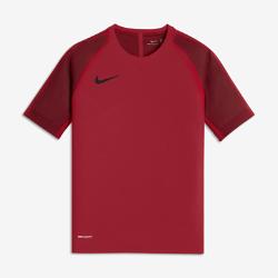 Игровая футболка с коротким рукавом для мальчиков школьного возраста Nike AeroSwift StrikeИгровая футболка с коротким рукавом для мальчиков школьного возраста Nike AeroSwift Strike из дышащей эластичной ткани обеспечивает охлаждение, помогая сохранять высокую скорость.<br>