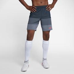Мужские футбольные шорты Nike AeroSwift StrikeМужские футбольные шорты Nike AeroSwift Strike из легкой дышащей ткани обеспечивают свободу движений при игре на максимальной скорости.  ОХЛАЖДЕНИЕ  Ткань с технологией Nike AeroSwift обеспечивает охлаждение во время интенсивной игры. Она очень легкая и обеспечивает дополнительную вентиляцию в зонах повышенного тепловыделения.  СВОБОДА ДВИЖЕНИЙ  Эластичные боковые вставки из рубчатой ткани не сковывают движений при беге и прыжках. При движении они растягиваются, открывая контрастный цвет.  НАДЕЖНАЯ ПОСАДКА И ВОЗДУХОПРОНИЦАЕМОСТЬ  Пояс Flyvent из тонкого воздухопроницаемого материала фиксирует посадку и отводит излишки тепла.<br>