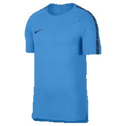 Мужская игровая футболка с коротким рукавом Nike Breathe SquadМужская игровая футболка с коротким рукавом Nike Breathe Squad из влагоотводящей ткани с вставкой из сетки на спине обеспечивает вентиляцию, комфорт и свободу движений наполе.<br>