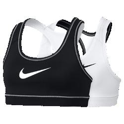 Спортивное бра для девочек школьного возраста Nike Home And Away ReversibleСпортивное бра для девочек школьного возраста Nike Home And Away Reversible обеспечивает комфорт и поддержку на площадке, на поле, в танцевальном зале и в любой другой ситуации.  Комфорт и защита от влаги  Технология Dri-FIT отводит влагу с кожи на поверхность ткани, обеспечивая комфорт.  Плотная посадка и поддержка  Заниженный пояс под грудью и эластичная ткань обеспечивают компрессионную посадку для поддержки и свободы движений.  Уникальный стиль  Двусторонняя конструкция позволяет создать два разных образа, которые сочетаются с разными футболками и майками. Сторона белого или телесного цвета отлично подходит для сочетания с формой или футболкой.<br>