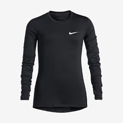 Футболка для тренинга с длинным рукавом для девочек школьного возраста Nike Pro DryФутболка для тренинга с длинным рукавом для девочек школьного возраста Nike Pro Dry из эластичной влагоотводящей ткани обеспечивает охлаждение и комфорт во время тренировок и игр.<br>