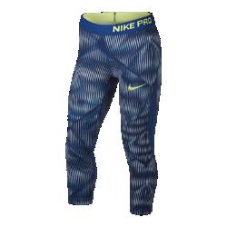 Капри для девочек школьного возраста Nike Pro HyperCoolКапри для девочек школьного возраста Nike Pro HyperCool из дышащей сетки и эластичной ткани обеспечивает вентиляцию и комфорт во время тренировки.<br>