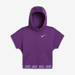 Худи для тренинга с коротким рукавом для девочек школьного возраста Nike Dry Core StudioХуди для тренинга с коротким рукавом для девочек школьного возраста Nike Dry Core Studio из влагоотводящей ткани обеспечивает комфорт.<br>