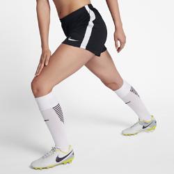 Женские футбольные шорты Nike Dry AcademyЖенские футбольные шорты Nike Dry Academy из легкой влагоотводящей ткани с боковыми вставками из сетки обеспечивают вентиляцию и комфорт во время игры.<br>