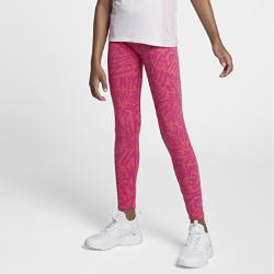 Тайтсы с принтом для девочек школьного возраста Nike SportswearТайтсы с принтом для девочек школьного возраста Nike Sportswear из эластичного мягкого хлопка обеспечивают комфорт и свободу движений.<br>