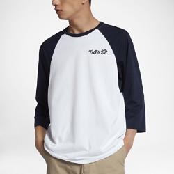 Мужская футболка с рукавом 3/4 Nike SB DryМужская футболка с рукавом 3/4 Nike SB Dry из влагоотводящей ткани с рукавами классического покроя реглан длиной 3/4.<br>