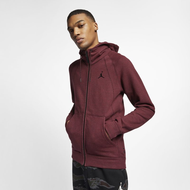 c6c8d0fa7be415 Nike Jordan Lifestyle Wings Fleece Men s Full-Zip Hoodie - Black Image