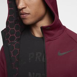 Мужская худи для тренинга Nike Therma Sphere MaxМужская худи для тренинга Nike Therma Sphere Max из термоткани с водоотталкивающим покрытием обеспечивает защиту от непогоды во время тренировок на улице.<br>