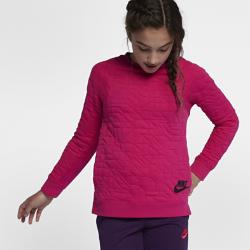 Свитшот для девочек школьного возраста Nike SportswearПОВСЕДНЕВНЫЙ КОМФОРТ ПОВСЕДНЕВНЫЙ КОМФОРТ  Свитшот для девочек школьного возраста Nike Sportswear из легкой и мягкой ткани терри обеспечивает комфорт и отлично сочетается с другой одеждой.  МЯГКОСТЬ И ЗАЩИТА  Мягкий и комфортный материал терри Манжеты, воротник и задняя нижняя кромка из рубчатой ткани обеспечивают дополнительную прочность и надежную фиксацию.  СВОБОДА ДВИЖЕНИЙ  Продуманное расположение швов и прилегающая посадка обеспечивают свободу движений и позволяют ни на что не отвлекаться.<br>