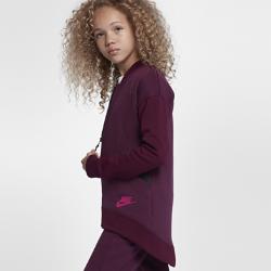Куртка для девочек школьного возраста Nike Sportswear Tech FleeceЛЕГКОСТЬ И ТЕПЛО ЛЕГКОСТЬ И ТЕПЛО  Куртка Nike Sportswear Tech Fleece для девочек школьного возраста обеспечивает легкость и тепло и позволяет надежно хранить разные мелочи.  ЛЕГКОСТЬ И ТЕПЛО  Ткань Nike Tech Fleece для легкости и тепла.  НАДЕЖНОЕ ХРАНЕНИЕ  В передних карманах на молнии удобно хранить телефон и другие ценные вещи. Благодаря мягкой подкладке из ткани джерси карманы надежно защищают руки от холода.  ПРОЧНОСТЬ  Горловина и манжеты из рубчатой ткани в сочетании с усиленными плечевыми швами обеспечивают прочность и создают аккуратный вид.<br>