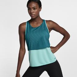 Женская майка для тренинга Nike Breathe ReversibleЖенская майка для тренинга Nike Breathe Reversible позволяет создать два разных образа. Свободный крой и легкая дышащая ткань обеспечивают превосходную вентиляцию при интенсивных нагрузках.<br>