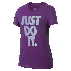 Футболка для девочек школьного возраста Nike Dry TempestФутболка для девочек школьного возраста Nike Dry Tempest из влагоотводящей ткани обеспечивает комфорт.<br>