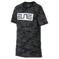 <ナイキ(NIKE)公式ストア> ナイキ Dri-FIT エリート ジュニア (ボーイズ) バスケットボール Tシャツ 862630-010 ブラック画像