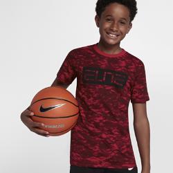 Баскетбольная футболка для мальчиков школьного возраста Nike Dry EliteБаскетбольная футболка для мальчиков школьного возраста Nike Dry Elite из влагоотводящей ткани обеспечивает комфорт во время игры.<br>