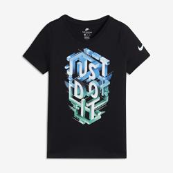 Футболка для девочек школьного возраста Nike Sportswear Just Do ItФутболка для девочек школьного возраста Nike Sportswear Just Do It из сверхмягкого прочного хлопка обеспечивает комфорт во время игры и тренировок.<br>