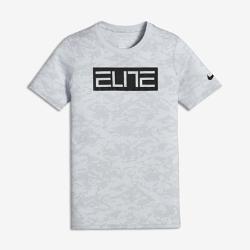 Баскетбольная футболка для мальчиков школьного возраста Nike Dry EliteБаскетбольная футболка для мальчиков школьного возраста Nike Dry Elite из влагоотводящей ткани обеспечивает комфорт во время тренировок и игр.<br>