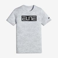 <ナイキ(NIKE)公式ストア> ナイキ ドライ エリート ジュニア (ボーイズ) バスケットボール Tシャツ 862704-043 シルバー画像