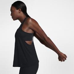 Женская майка для тренинга NikeЖенская майка для тренинга Nike из влагоотводящей ткани со вшитым спортивным бра обеспечивает поддержку и комфорт во время тренировки.<br>