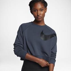 Женская футболка для тренинга с длинным рукавом Nike DryЖенская футболка для тренинга с длинным рукавом Nike Dry из влагоотводящей ткани обеспечивает комфорт.<br>