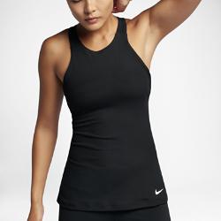 Женская майка для тренинга NikeЖенская майка для тренинга Nike из легкой влагоотводящей ткани со вшитым спортивным бра обеспечивает поддержку, охлаждение и комфорт во время тренировки.<br>
