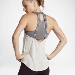 Женская майка для тренинга Nike BreatheЖенская майка для тренинга Nike Breathe из легкой дышащей ткани с открытой конструкцией спины обеспечивает абсолютный комфорт на интенсивных тренировках.<br>