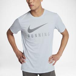 Мужская беговая футболка Nike DryМужская беговая футболка Nike Dry из влагоотводящей ткани обеспечивает комфорт во время бега на любой дистанции.<br>