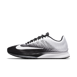 Мужские беговые кроссовки Nike Air Zoom Elite 9НЕВЕРОЯТНАЯ ЛЕГКОСТЬ И АМОРТИЗАЦИЯ  Мужские беговые кроссовки Nike Air Zoom Elite 9 с легкой дышащей конструкцией из сетки обеспечивают возврат энергии, способствуя плавным движениям стопы при каждом шаге. Больше пространства в области носка для эффективного отталкивания от поверхности. Эти кроссовки обеспечивают амортизацию и поддержку при каждом шаге и идеально подходят для быстрого бега по пересеченной местности, беговой дорожке и асфальту.  Воздухопроницаемость и комфорт  Легкий и тонкий сетчатый материал обхватывает стопу, усиливая циркуляцию воздуха и обеспечивая охлаждение от старта до финиша. Более тонкий язычок плотно прилегает к стопе, устраняя лишний объем.  Возврат энергии  При приземлении вставка Nike Zoom Air в передней части стопы быстро принимает исходную форму, возвращая энергию для следующего шага.  Амортизация и сцепление  Более мягкая подошва из цельного пеноматериала обеспечивает амортизацию и защиту от ударных нагрузок. А ультратонкая и легкая подметка из прочной резины создает сцепление на любой поверхности — от тротуаров до вязкого грунта.  Подробнее  Нити Flywire интегрированы в систему шнуровки для стабильной посадки Внутренняя вставка из сетки облегает стопу для плотной удобной посадки Жесткая внутренняя конструкция пятки для стабилизации Вес: 225 г (мужской размер 10) Перепад: 8 мм Воздухопроницаемость и комфорт  Легкий бесшовный верх из материала Flymesh обеспечивает воздухообмен и длительный комфорт.  Амортизация  Вставка Nike Zoom Air в передней части стопы обеспечивает упругую амортизацию при каждом шаге.  Надежное сцепление  Сверхтонкая подметка обеспечивает сцепление с поверхностью и защиту от ударных нагрузок во время бега.<br>