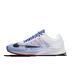 Женские беговые кроссовки Nike Air Zoom Elite 9НЕВЕРОЯТНАЯ ЛЕГКОСТЬ И АМОРТИЗАЦИЯ  Женские беговые кроссовки Nike Air Zoom Elite 9 с легкой дышащей конструкцией из сетки обеспечивают возврат энергии, способствуя плавным движениям стопы при каждом шаге. Больше пространства в области носка для эффективного отталкивания от поверхности. Эти кроссовки обеспечивают амортизацию и поддержку при каждом шаге и идеально подходят для быстрого бега по пересеченной местности, беговой дорожке и асфальту.  Воздухопроницаемость и комфорт  Легкий и тонкий сетчатый материал обхватывает стопу, усиливая циркуляцию воздуха и обеспечивая охлаждение от старта до финиша. Более тонкий язычок плотно прилегает к стопе, устраняя лишний объем.  Возврат энергии  При приземлении вставка Nike Zoom Air в передней части стопы быстро принимает исходную форму, возвращая энергию для следующего шага.  Амортизация и сцепление  Более мягкая подошва из цельного пеноматериала обеспечивает амортизацию и защиту от ударных нагрузок. А ультратонкая и легкая подметка из прочной резины создает сцепление на любой поверхности — от тротуаров до вязкого грунта.  Подробнее  Нити Flywire интегрированы в систему шнуровки для стабильной посадки Внутренняя вставка из сетки облегает стопу для плотной удобной посадки Жесткая внутренняя конструкция пятки для стабилизации Вес: 190 г (женский размер 8) Перепад: 8 мм Воздухопроницаемость и комфорт  Легкий бесшовный верх из материала Flymesh обеспечивает воздухообмен и длительный комфорт.  Амортизация  Вставка Nike Zoom Air в передней части стопы обеспечивает упругую амортизацию при каждом шаге.  Надежное сцепление  Сверхтонкая подметка обеспечивает сцепление с поверхностью и защиту от ударных нагрузок во время бега.<br>