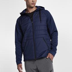 Мужская куртка для тренинга Nike ThermaМужская куртка для тренинга Nike Therma из термоткани с легким утеплителем обеспечивает тепло и комфорт во время тренировок в холодную погоду.<br>