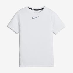 Беговая футболка с коротким рукавом для мальчиков школьного возраста Nike DryБеговая футболка с коротким рукавом для мальчиков школьного возраста Nike Dry из легкой влагоотводящей ткани создает комфорт и ощущение прохлады во время бега.<br>