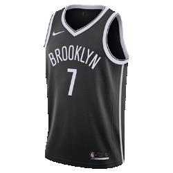 Мужское джерси Nike НБА Jeremy Lin Icon Edition Swingman Jersey (Brooklyn Nets) с технологией NikeConnectСозданное по образцу аутентичных джерси НБА мужское джерси Nike НБА Icon Edition Swingman (Brooklyn Nets) с технологией NikeConnect обеспечивает комфорт и охлаждение при движении, позволяя тебе демонстрировать поддержку любимой команды. Войди в игру Джерси Nike НБА с технологией NikeConnect дает удобный доступ к информации об атлетах и уникальных предложениях, а также шанс стать ближе к любимой игре. Загрузи приложение NikeConnect и отсканируй этикетку на нижней кромке своего джерси с помощью смартфона. Легкость и комфорт Легкая и прочная сетка двойного переплетения для охлаждения. Отведение влаги Технология Dri-FIT отводит влагу и обеспечивает комфорт. Информация о товаре  Твиловые имя и номер игрока нанесены методом термопечати Аутентичные логотипы и цвета Состав: 100% переработанный полиэстер Машинная стирка Импорт<br>