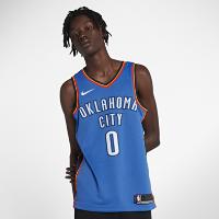 <ナイキ(NIKE)公式ストア> ラッセル ウエストブルック オクラホマシティ サンダー ナイキ アイコン エディション スウィングマン ジャージー メンズ NBA ジャージー 864497-403 ブルー画像