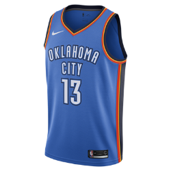 Paul George Icon Edition Swingman Jersey (Oklahoma City Thunder) Men's Nike NBA Connected Jersey
