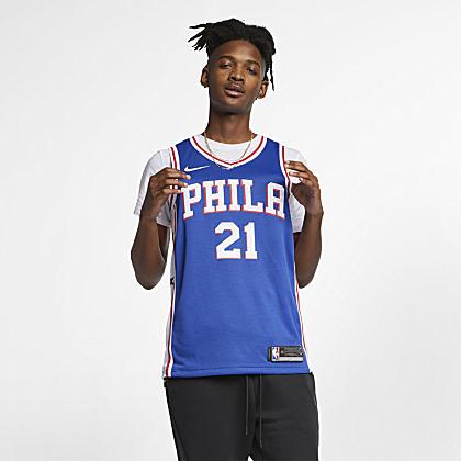 47a5117724d Philadelphia 76ers City Edition Nike Modern Men's NBA Varsity Jacket ...