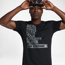 """Мужская баскетбольная футболка Jordan Dry """"More Rings""""Мужская баскетбольная футболка Jordan Dry """"More Rings"""" из влагоотводящей ткани обеспечивает комфорт во время игры.<br>"""