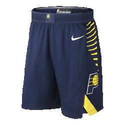 Мужские шорты НБА Indiana Pacers Nike Icon Edition AuthenticСозданные в стиле игровой формы НБА мужские шорты НБА Indiana Pacers Nike Icon Edition Authentic из ткани с технологией AeroSwift объединяют инновационные функции и материалы, обеспечивая точную посадку и свободу движений величайшим игрокам главной баскетбольной лиги мира. Легкость и вентиляция Легкая быстросохнущая ткань не прилипает к телу и обеспечивает исключительный комфорт. Пояс Flyvent из дышащей сетки повышает воздухопроницаемость и создает надежную посадку. Свобода движений Кромки с разрезами и эластичная ткань для свободы движений в любых направлениях. Информация о товаре  Состав: 100% полиэстер Машинная стирка Импорт<br>