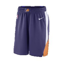 Мужские шорты НБА Phoenix Suns Nike Icon Edition SwingmanСозданные по образцу официальных шорт для тренинга НБА мужские шорты НБА Phoenix Suns Nike Icon Edition Swingman обеспечивают комфорт и охлаждение при движении, одновременно демонстрируя твою поддержку команды. Легкость и комфорт Легкая и прочная сетка двойного переплетения для охлаждения. Свобода движений Эластичная ткань и разрезы в кромке спереди для свободы движений на площадке и на каждый день. Отведение влаги Технология Dri-FIT отводит влагу с поверхности кожи, обеспечивая комфорт. Информация о товаре  Аутентичные логотипы и цвета команды Состав: 100% переработанный полиэстер Машинная стирка Импорт<br>