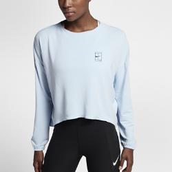 Женская теннисная футболка с длинным рукавом NikeCourt DryЖенская теннисная футболка с длинным рукавом NikeCourt Dry из сверхмягкой влагоотводящей смесовой ткани обеспечивает тепло и комфорт на корте и за его пределами.<br>
