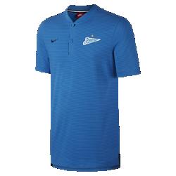 Мужская рубашка-поло FC ZenitМужская рубашка-поло FC Zenit из мягкого смесового хлопка украшена тканой накладкой с символикой команды.<br>