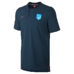 Мужская рубашка-поло Atletico de Madrid Modern Authentic Grand SlamМужская рубашка-поло Atletico de Madrid Modern Authentic Grand Slam из мягкого смесового хлопка дополнена тканой накладкой с символикой команды.<br>