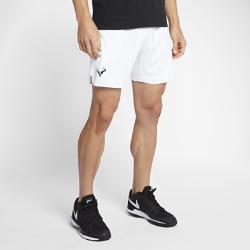 Мужские теннисные шорты NikeCourt Flex Rafa Ace 18 смЛегкие и эластичные мужские теннисные шорты NikeCourt Flex Rafa длиной 18 см обеспечивают полную свободу движений во время рывков, прорывов и отражения атак.  СВОБОДА ДВИЖЕНИЙ  Эластичная ткань Nike Flex обеспечивает комфорт и свободу движений.  ОХЛАЖДЕНИЕ  Перфорация по бокам отводит излишки тепла для охлаждения во время игры.  ПОЛНАЯ КОНЦЕНТРАЦИЯ  Глубокие боковые карманы для хранения мячей помогают полностью сосредоточиться на игре.<br>
