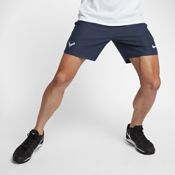 Мужские теннисные шорты NikeCourt Flex Rafa Ace 18 смЛегкие и эластичные мужские теннисные шорты NikeCourt Flex Rafa длиной 18 см обеспечивают полную свободу движений во время рывков, прорывов и отражения атак.<br>