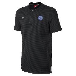 Мужская рубашка-поло Paris Saint-Germain Modern Authentic Grand SlamМужская рубашка-поло Paris Saint-Germain Modern Authentic Grand Slam с тканой символикой команды выполнена из мягкой смесовой ткани на основе хлопка.<br>