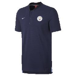 Мужская рубашка-поло Manchester City FC Modern Authentic Grand SlamМужская рубашка-поло Manchester City FC Modern Authentic Grand Slam с тканой символикой команды выполнена из мягкой смесовой ткани на основе хлопка.<br>