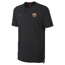 Мужская рубашка-поло FC Barcelona Modern Authentic Grand SlamМужская рубашка-поло FC Barcelona Modern Authentic Grand Slam с тканой накладкой с символикой команды выполнена из мягкой смесовой ткани на основе хлопка.<br>
