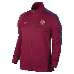 Женская футбольная куртка FC Barcelona FranchiseЖенская футбольная куртка FC Barcelona Franchise из мягкой и прочной ткани двойного переплетения с фирменными деталями обеспечивает комфорт на весь день.<br>